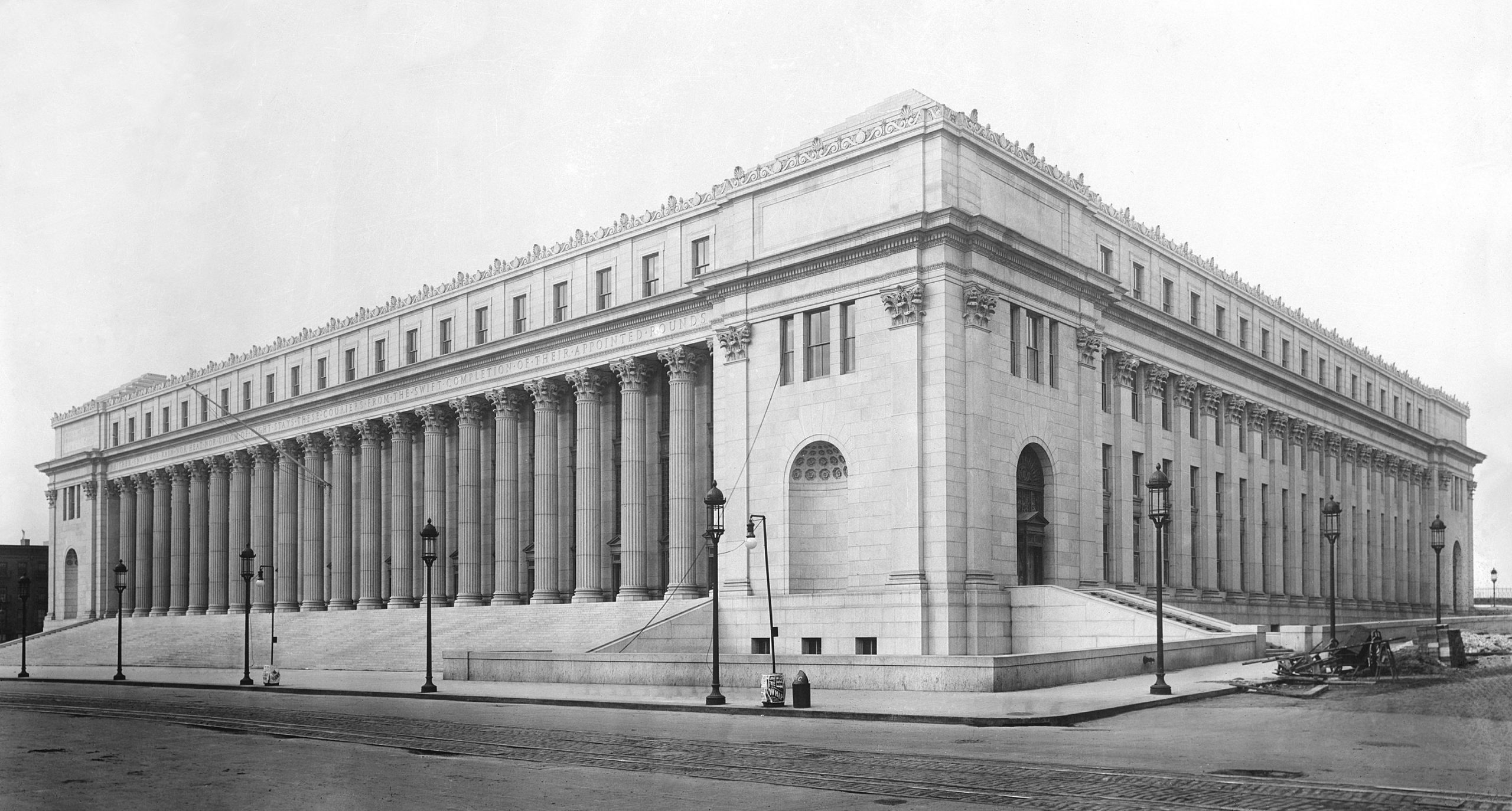 a picture of James A. Farley Building captured in circa 1912