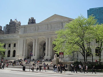 Picture of the Stephen A. Schwarzman Building of the New York Public Library, more widely known as the Main Branch or simply as the New York Public Library