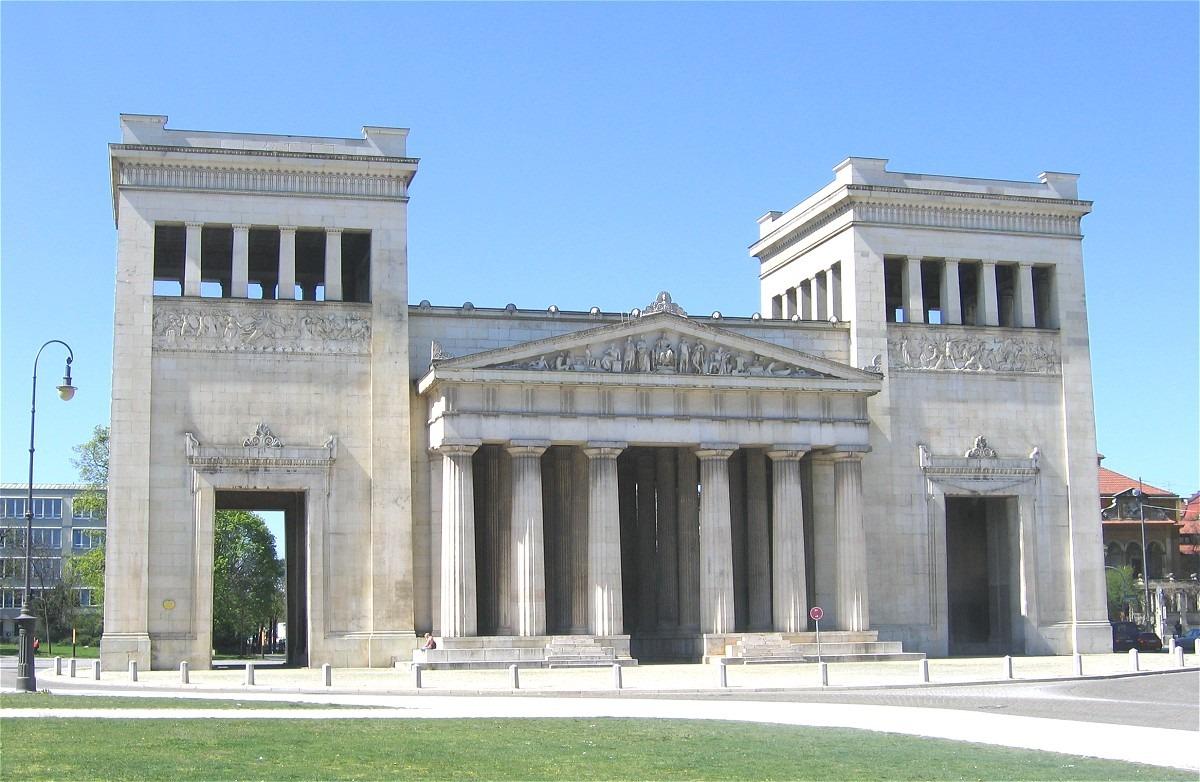 Façade of Propylaea in Munich