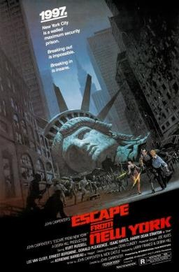 the official poster of the film Escape from New York