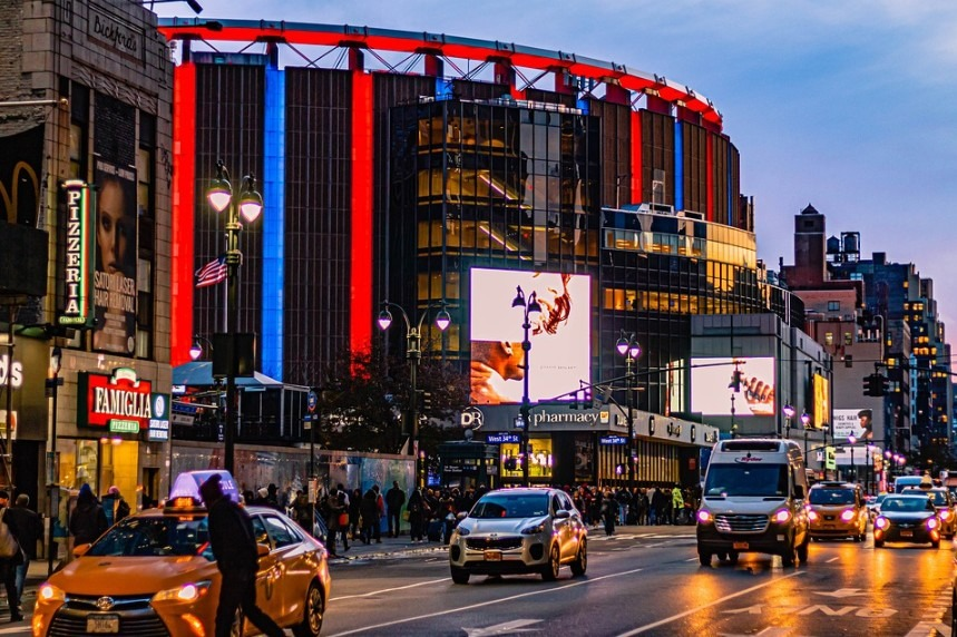 Madison Square Garden on a busy day
