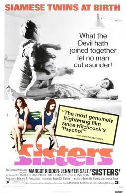 a poster of the 1973 film Sisters